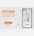 map gps navigation smartphone app screen vector image