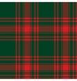 Menzies tartan green red kilt skirt fabric texture vector image vector image