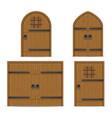 old wooden door vector image vector image