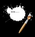 Paint brush white ink background vector image vector image
