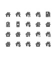 real estate flat glyph icons set house sale home vector image vector image