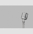 realistic microphone 3d professional metal mics vector image
