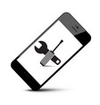 repair tools symbol on mobile phone icon vector image vector image