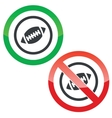 Rugby permission signs vector image vector image