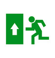 safe sign the exit icon emergency exit green vector image vector image