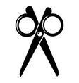 scissors icon simple black style vector image vector image