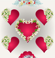Seamless texture heart with jasmine vector image