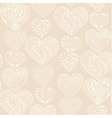 Seamless white hearts vertical pattern vector image