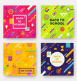 set back to school backgrounds vector image vector image