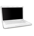 Silver laptop with black blank screen vector image vector image
