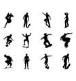 skateboarder silhouette outlines