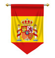 spain pennant vector image vector image
