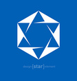 Star of David Jewish Abstract design element vector image vector image