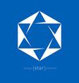 Star of David Jewish Abstract design element vector image