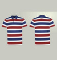 striped polo t shirt vector image vector image