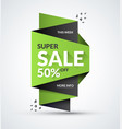 super sale banner special offer concept vector image vector image