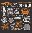 surfing emblem and design elements