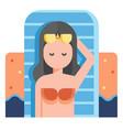take vacation flat vector image vector image