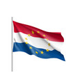 the netherlands national flag with a star circle vector image vector image