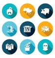 Ukraines energy problems Icons Set vector image vector image