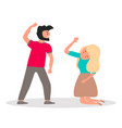 violence in familyhusband wants to hit his wife vector image