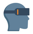 virtual reality glasses flat icon game vector image vector image