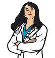 woman doctor vector image vector image