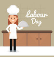 young female chef avatar character vector image