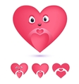 Smiley heart make sing of love vector image