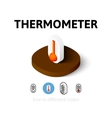 Thermometer icon in different style vector image