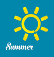 watercolor summer sun design vector image