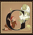 children book cartoon fairytale alphabet letter g vector image