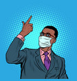african businessman in a medical mask coronavirus vector image