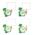 alarm clock with blank sign vector image vector image