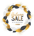 autumn big sale poster with leaves vector image