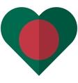 Bangladesh flat heart flag vector image vector image