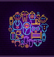 bashower neon concept vector image