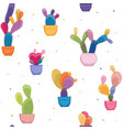 Bright colorful cacti plant cactus flower pattern