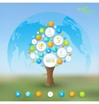 Business plan tree with place for your text and vector image