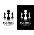 business strategy logo concept chess logo vector image vector image