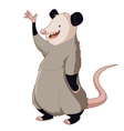 Cartoon smiling Opossum vector image vector image