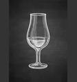chalk sketch whiskey glass vector image vector image
