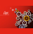 cogs design vector image vector image
