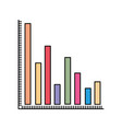 colorful silhouette of column chart vector image vector image
