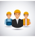 construction workers cartoon icon vector image vector image