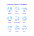 cybersecurity concept icons set vector image
