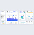 dashboard ui modern presentation with data graphs vector image vector image