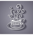 Decorative Cup of Coffee vector image