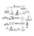 deprecated transport icons set outline style vector image vector image
