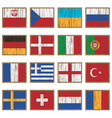 distressed wooden flags vector image vector image